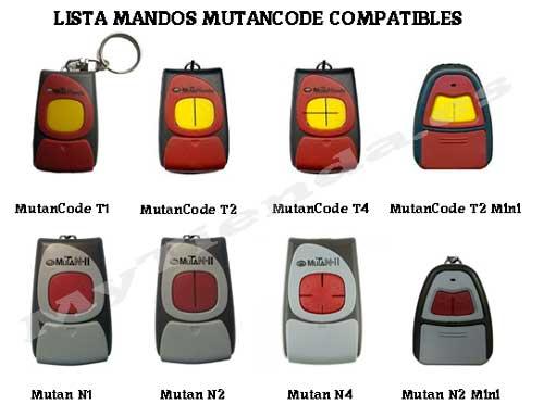 Lista mandos mutancode compatibles
